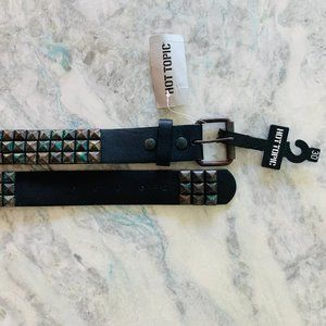 Hot Topic Black Studded Vegan Leather Mens Belt